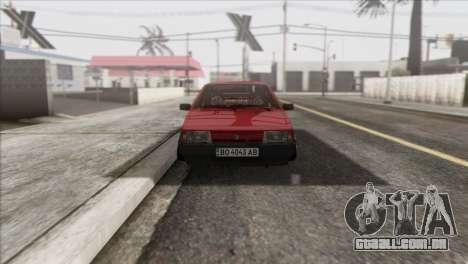 VAZ 2108 DropMode para GTA San Andreas vista traseira