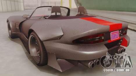 GTA 5 Bravado Banshee 900R Carbon IVF para GTA San Andreas traseira esquerda vista
