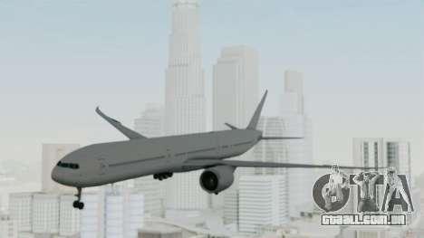 Boeing 777-9x Paintkit para GTA San Andreas traseira esquerda vista