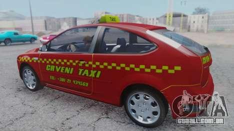 Ford Focus ST Taxi para GTA San Andreas traseira esquerda vista
