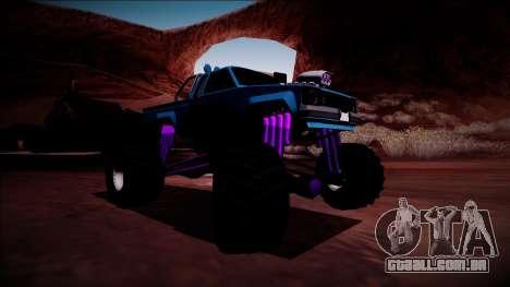 GTA 5 Karin Rebel Monster Truck para GTA San Andreas traseira esquerda vista
