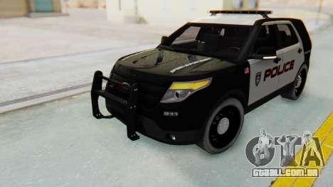 Ford Explorer Police para GTA San Andreas vista direita