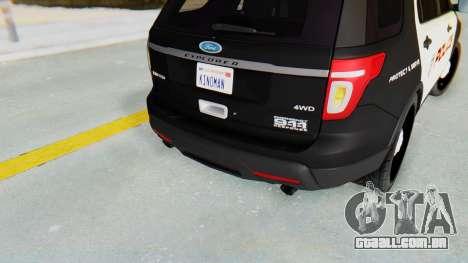 Ford Explorer Police para GTA San Andreas vista traseira