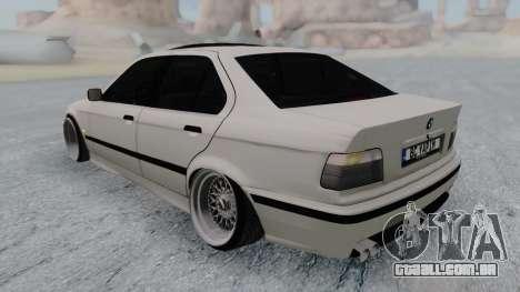 BMW 3-er E36 para GTA San Andreas traseira esquerda vista