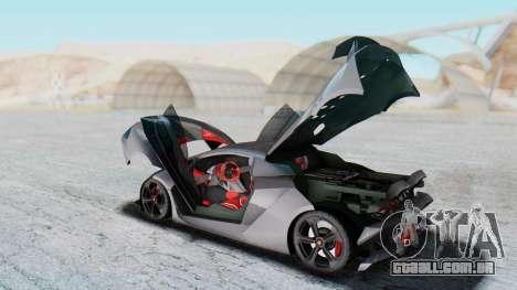 Lamborghini Sesto Elemento 2010 para GTA San Andreas vista interior
