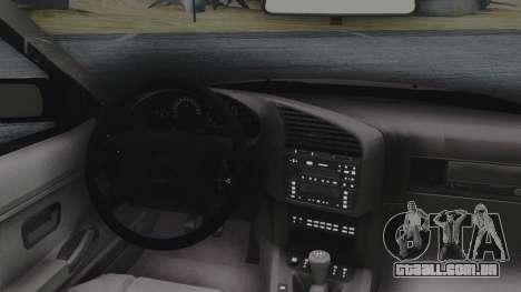 BMW 3-er E36 para GTA San Andreas vista traseira