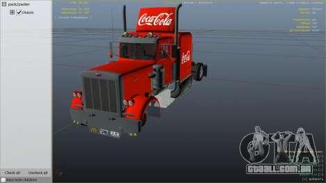 GTA 5 Coca Cola Truck v1.1 vista lateral direita