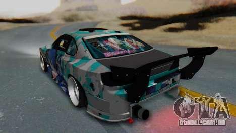 Nissan Silvia s15 Itasha [EDE-Crew] para GTA San Andreas esquerda vista