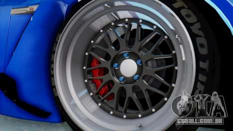 Nissan GT-R R35 Rocket Bunny para GTA San Andreas vista traseira