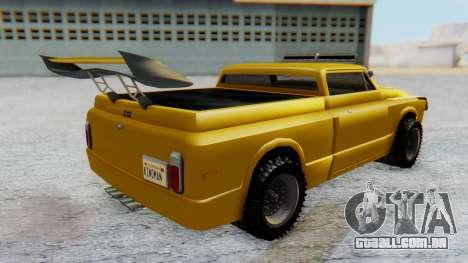 Slamvan v1.0 para GTA San Andreas traseira esquerda vista