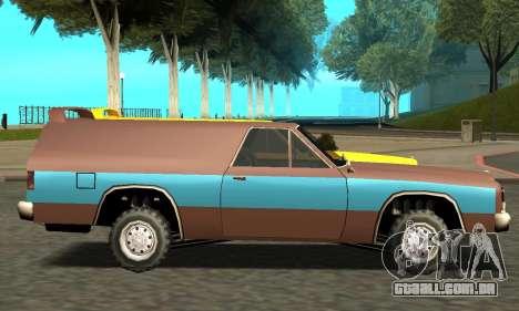 Picador Vagon Extreme para GTA San Andreas esquerda vista