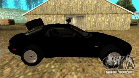 Mazda RX-7 Rusty Rebel para GTA San Andreas vista interior