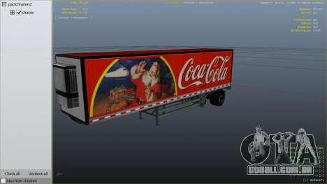 GTA 5 Coca Cola Truck v1.1 traseira direita vista lateral