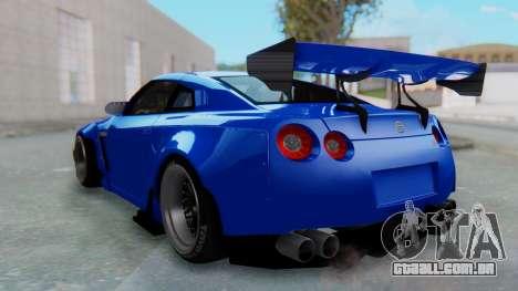 Nissan GT-R R35 Rocket Bunny para GTA San Andreas esquerda vista