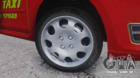 Ford Focus ST Taxi para GTA San Andreas vista traseira