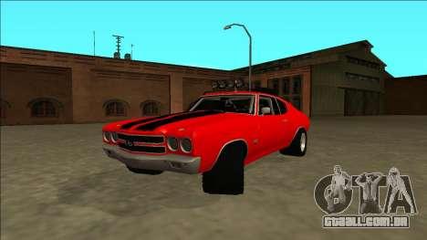 Chevrolet Chevelle Rusty Rebel para GTA San Andreas traseira esquerda vista