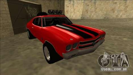 Chevrolet Chevelle Rusty Rebel para GTA San Andreas esquerda vista