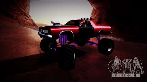 Picador Monster Truck para GTA San Andreas esquerda vista