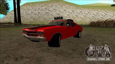 Chevrolet Chevelle Rusty Rebel para GTA San Andreas vista traseira