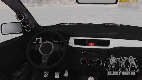 Mitsubishi Lancer Evo IX MR Tobiichi Origami para GTA San Andreas vista traseira