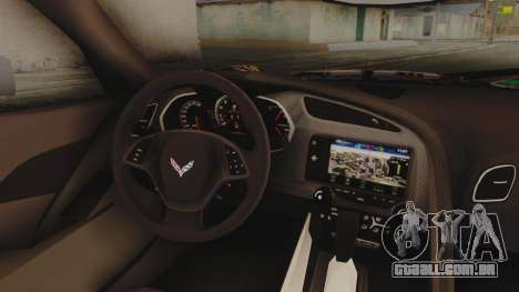 Chevrolet Corvette Stingray C7 2014 Sticker Bomb para GTA San Andreas vista direita