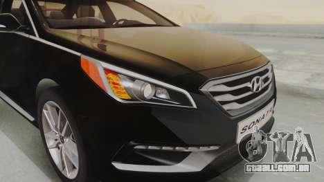 Hyundai Sonata Turbo 2.0 2015 V1.0 Final para GTA San Andreas vista interior