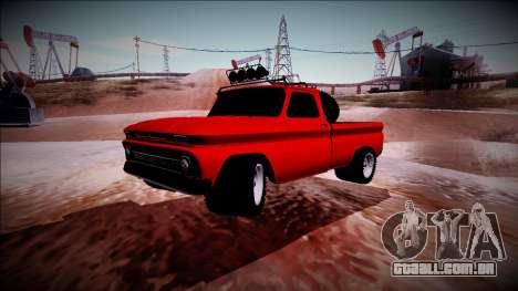 Chevrolet C10 Rusty Rebel para GTA San Andreas vista traseira
