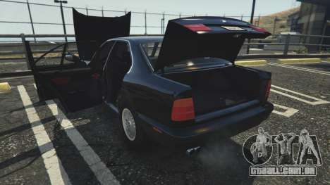 GTA 5 BMW 535i E34 vista lateral direita