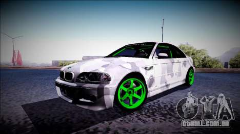 BMW M3 E46 Drift Monster Energy para GTA San Andreas