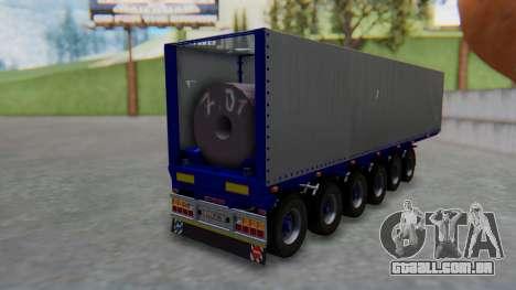 Trailer Colis Blue para GTA San Andreas esquerda vista