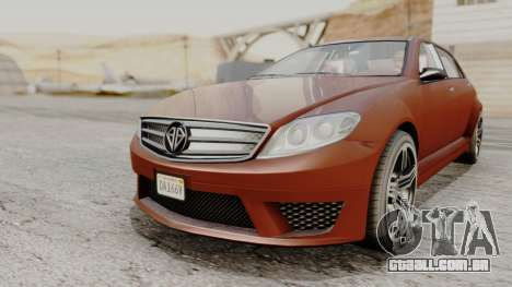 GTA 5 Benefactor Schafter LWB para GTA San Andreas