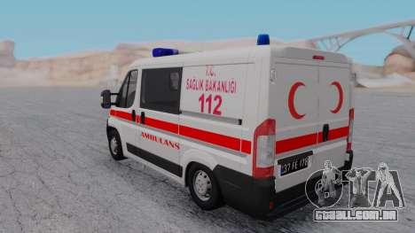 Fiat Ducato Turkish Ambulance para GTA San Andreas vista direita