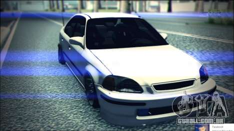Honda Civic by Snebes para GTA San Andreas vista traseira