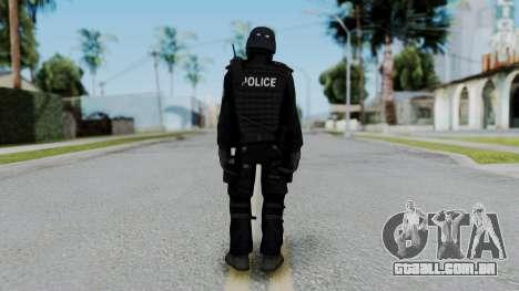 Regular SWAT para GTA San Andreas terceira tela