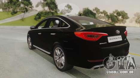 Hyundai Sonata Turbo 2.0 2015 V1.0 Final para GTA San Andreas esquerda vista