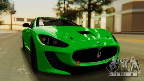 Maserati Gran Turismo Tron para GTA San Andreas vista direita