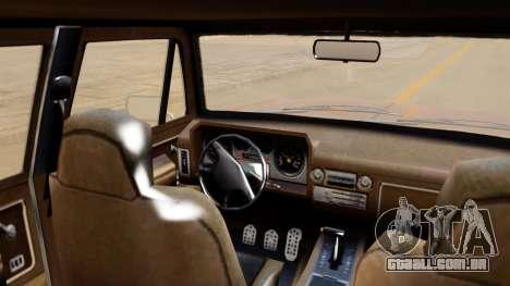 GTA 5 Declasse Rancher XL IVF para GTA San Andreas traseira esquerda vista