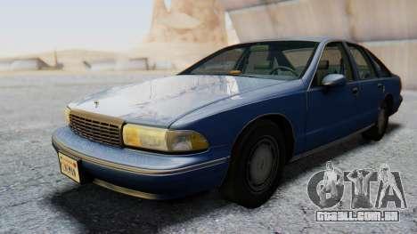Chevrolet Caprice 1993 para GTA San Andreas traseira esquerda vista