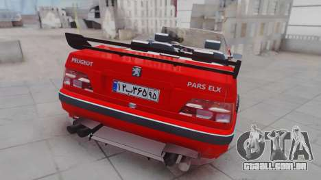 Peugeot Pars Spayder Sport para GTA San Andreas esquerda vista