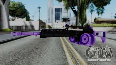 Purple M4 para GTA San Andreas