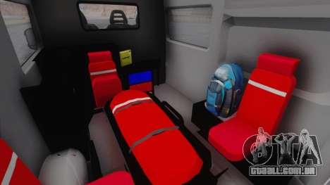 Fiat Ducato Turkish Ambulance para GTA San Andreas vista traseira