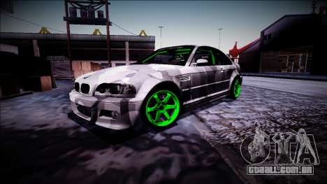 BMW M3 E46 Drift Monster Energy para GTA San Andreas vista interior