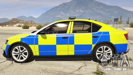 GTA 5 2014 Police Skoda Octavia VRS Hatchback vista lateral esquerda