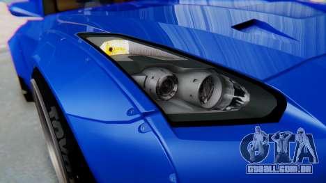 Nissan GT-R R35 Rocket Bunny para GTA San Andreas vista interior