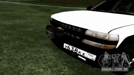 Chevrolet Suburban Offroad Final Version para GTA San Andreas vista traseira