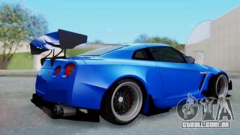 Nissan GT-R R35 Rocket Bunny para GTA San Andreas vista direita
