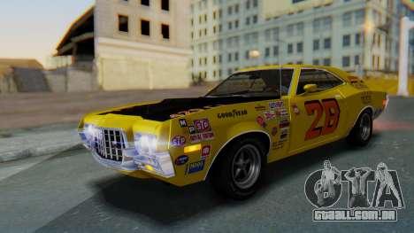 Ford Gran Torino Sport SportsRoof (63R) 1972 PJ2 para GTA San Andreas vista inferior