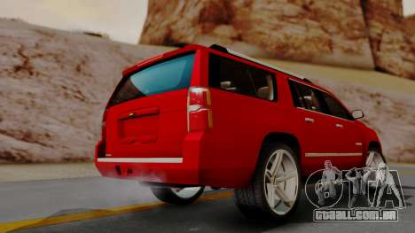 Chevrolet Suburban 2015 LTZ para GTA San Andreas esquerda vista
