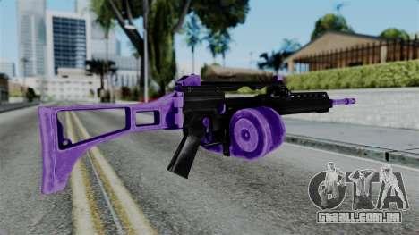 Purple M4 para GTA San Andreas segunda tela