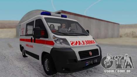 Fiat Ducato Turkish Ambulance para GTA San Andreas traseira esquerda vista